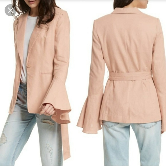 Free People Jackets & Blazers - NWT Free People Flared Sleeve Linen Blazer